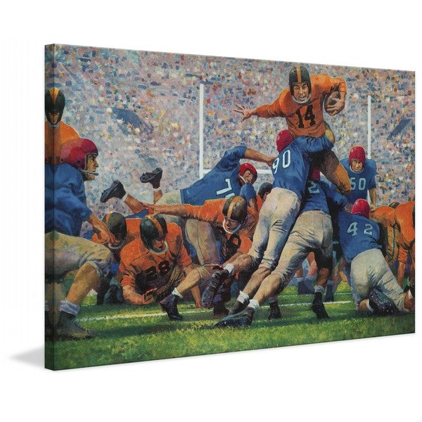 """Marmont Hill - """"Playoff Game"""" by Robert Moore Painting Print on Canvas"""
