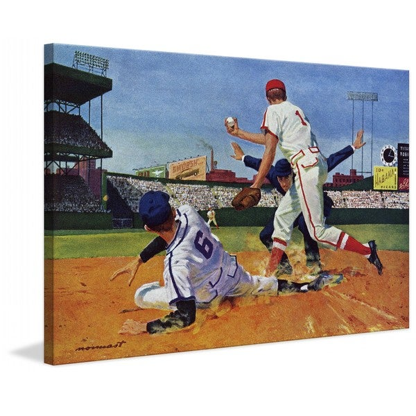 "Marmont Hill - ""The Umpire Was a Rookie"" by Paul Nonnast Painting Print on Canvas"