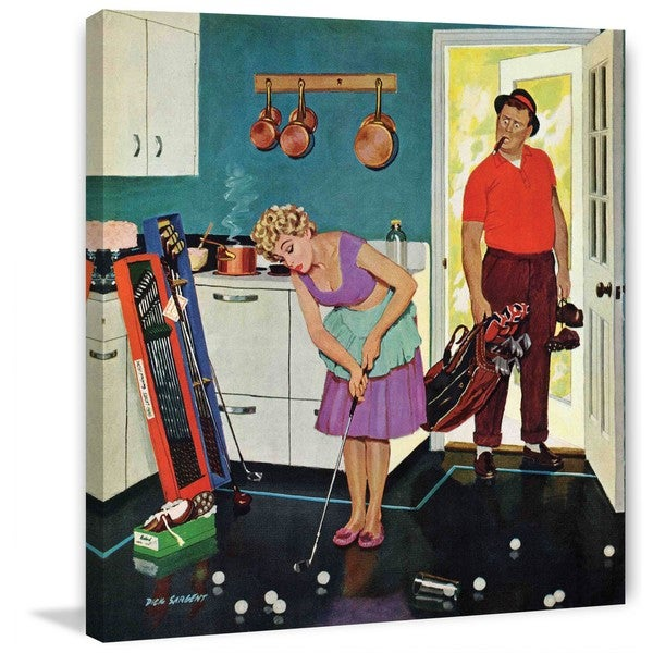 "Marmont Hill - ""Putting Around in the Kitchen"" by Richard Sargent Painting Print on Canvas"