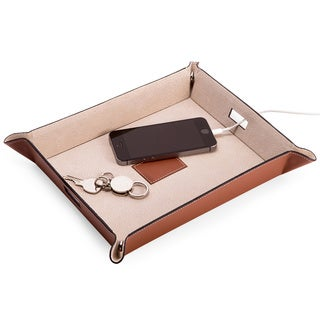 Bey Berk Leather Valet and Charging Station