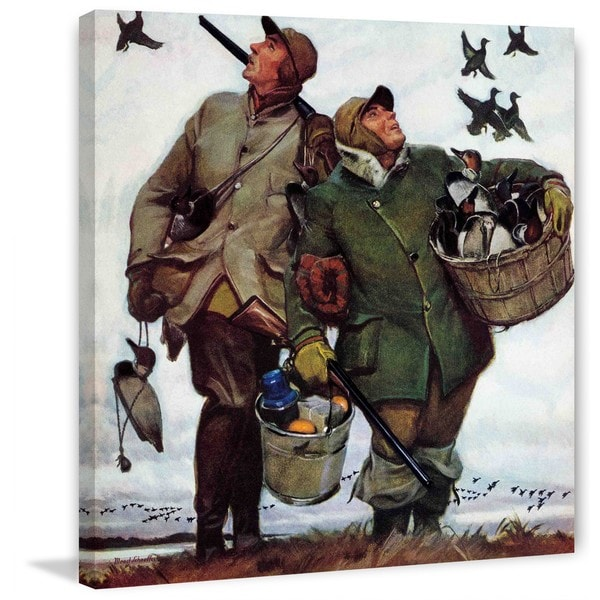 "Marmont Hill - ""Nothing but Decoys"" by Mead Schaeffer Painting Print on Canvas"