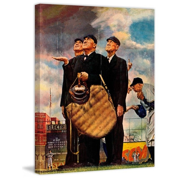 "Marmont Hill - ""Bottom of the Sixth"" by Norman Rockwell Painting Print on Canvas"