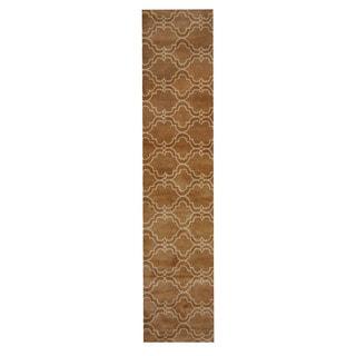 Herat Oriental Indo Hand-Tufted Tibetan Light Brown/ Ivory Wool Rug (2'3 x 12')