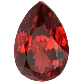 Pear-cut 7x11mm 3 1/5ct TGW Red Spinel