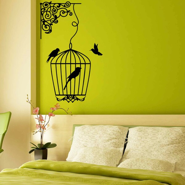 Bird Cage Vinyl Sticker Wall Art