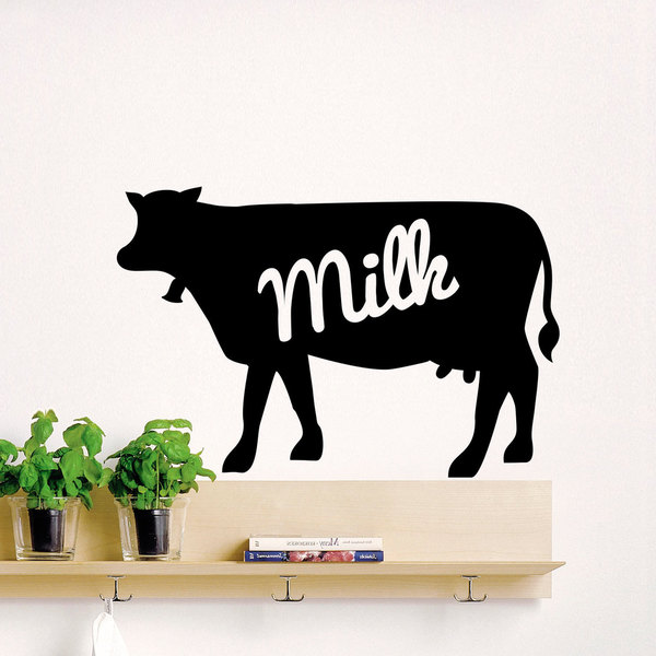 Cow Milk Vinyl Sticker Wall Art