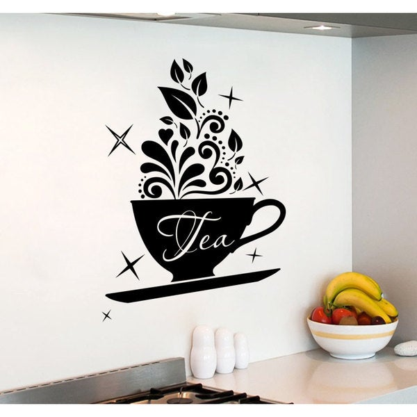 Tea Time Tea Party Vinyl Sticker Wall Art