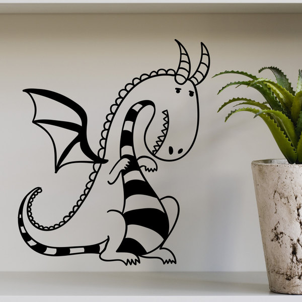 Cute Dragon Kids Vinyl Sticker Wall Art