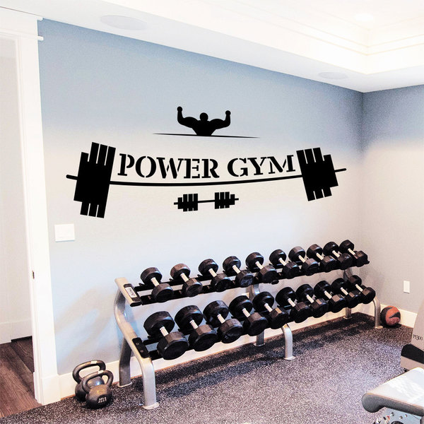 GYM Decor Power GYM Vinyl Sticker Wall Art