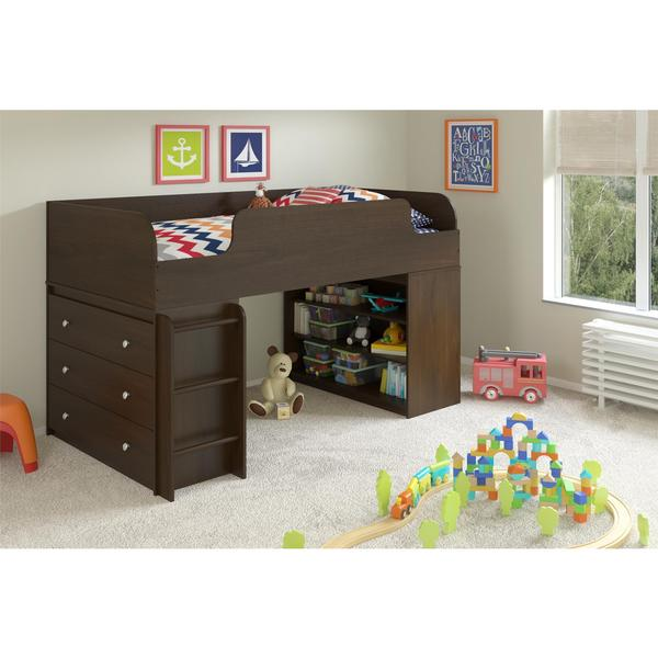 Altra Elements Resort Cherry with Bookcase and Dresser by Cosco