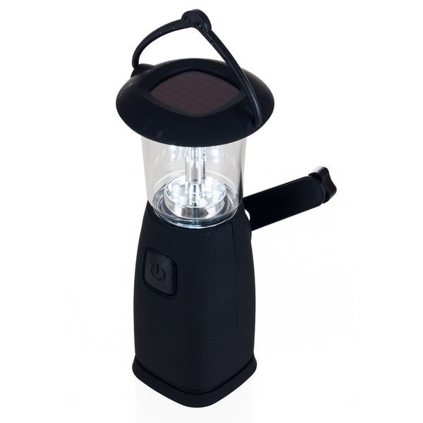 6 LED Solar and Dynamo Powered Camping Lantern by Whetstone