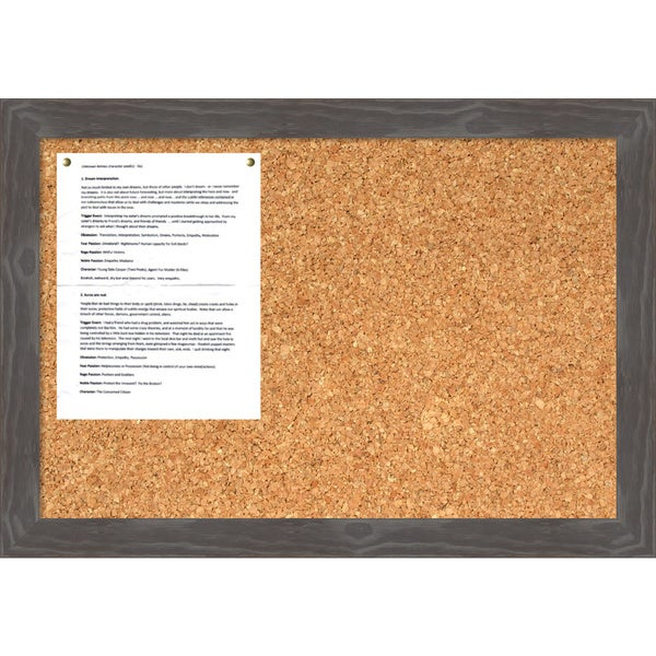 Woodridge Grey Cork Board - Medium' Message Board 27 x 19-inch