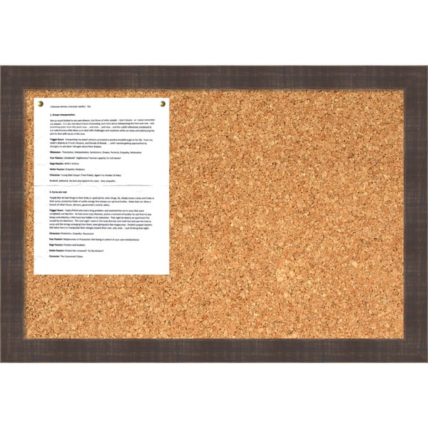 Whiskey Brown Rustic Cork Board - Medium' Message Board 26 x 18-inch