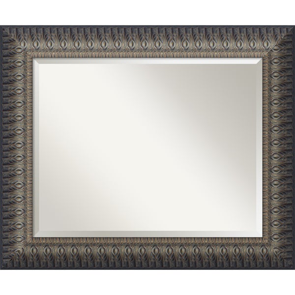 Nouveau Black Wall Mirror - Large 35 x 29-inch