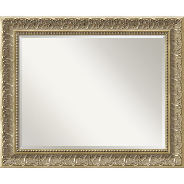 Silver Baroque Wall Mirror - Large 34 x 28-inch
