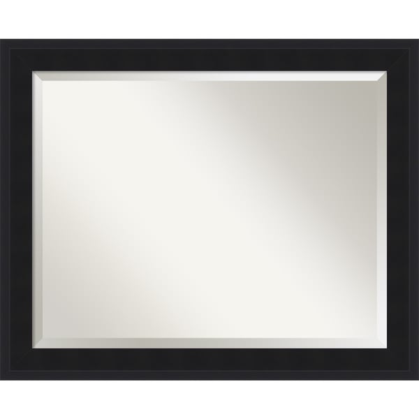 Urbano Black Wall Mirror - Large 33 x 27-inch