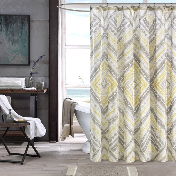 Ink+Ivy Cornwall Cotton Printed Shower Curtain
