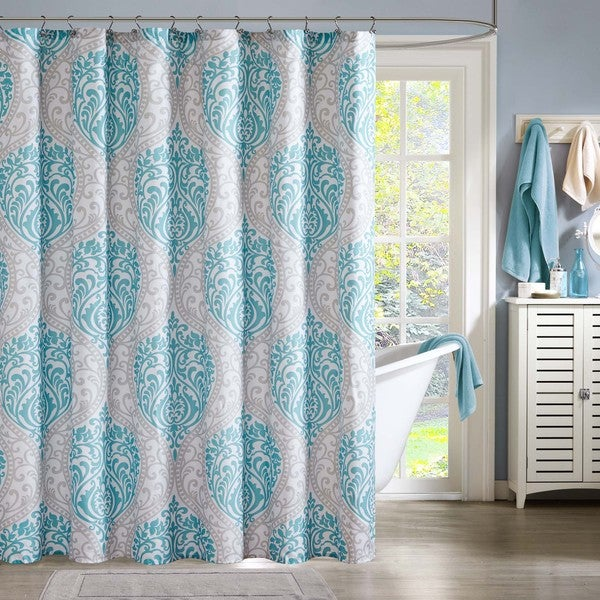 Intelligent Design Lilly Microfiber Printed Shower Curtain - 17510773 ...