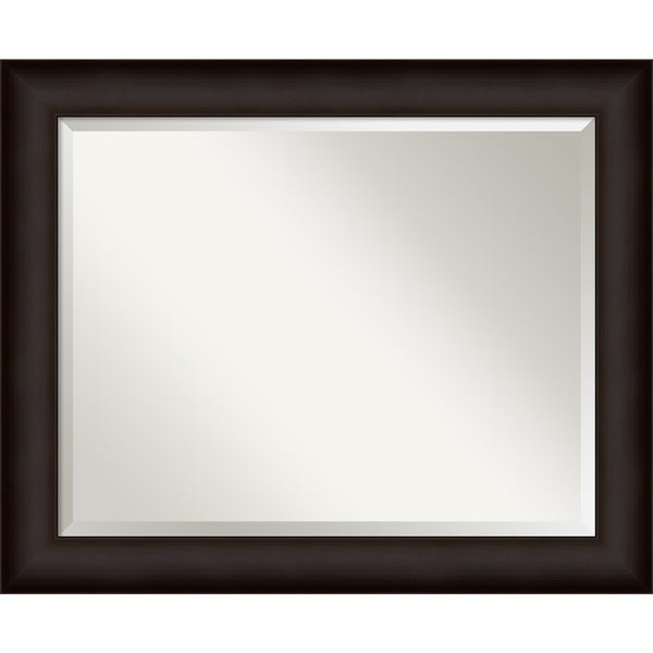 Deep Taupe Wall Mirror - Large 33 x 27-inch