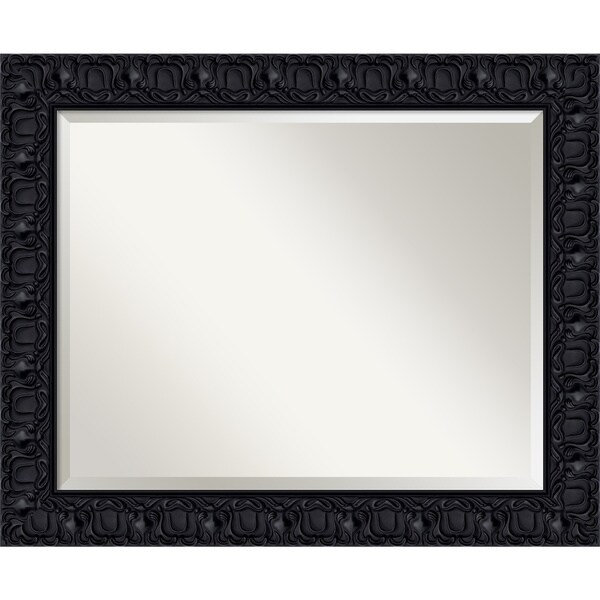 Black Luxor Wall Mirror - Large 34 x 28-inch