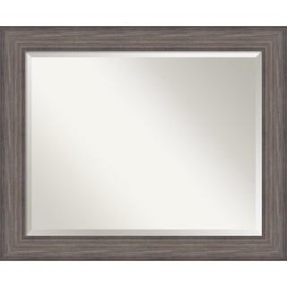 Country Barnwood Wall Mirror - Large 33 x 27-inch
