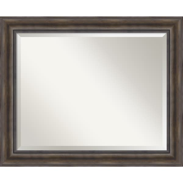 Rustic Pine Wall Mirror - Large 34 x 28-inch