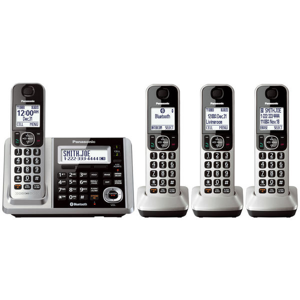 Panasonic KX-TGF374S DECT 6.0 Landline Telephone with 4 Cordless Handsets
