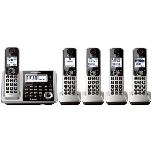Panasonic KX-TGF375S DECT 6.0 Landline with 5 Cordless Handsets