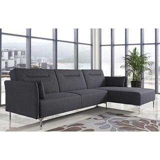 Dolyna Black Folding Sectional Sofa
