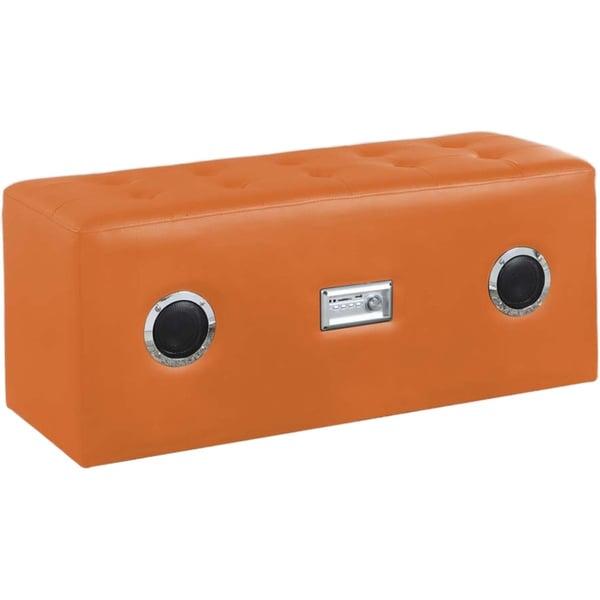 Perevalsk Upholstered Orange Bench with Sound System