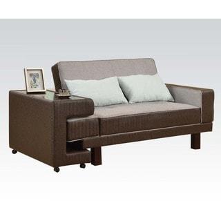 Sambir Grey/ Brown Adjustable Sofa with Side Table