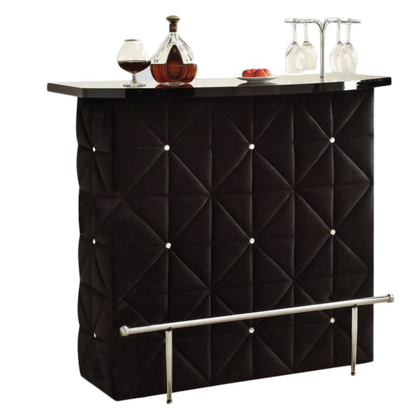 Okhtyrka Black Velvet Bar Table