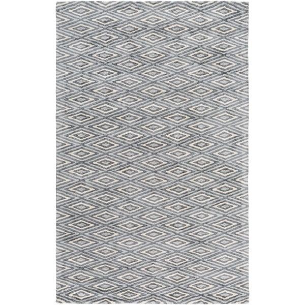 Hand-Woven Grimsby Geometric Viscose Rug (2' x 3')