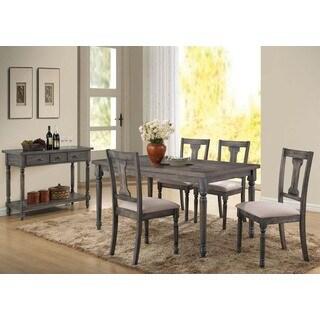 Tivoli 5-piece Dining Set in Weathered Blue Finish