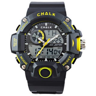 CHALK Velocity Lutescent V Men's 52mm Extreme Yellow Sports Watch