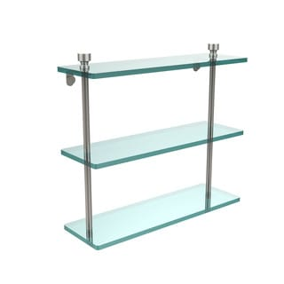 Foxtrot Collection 16-inch 3-tiered Glass Shelf