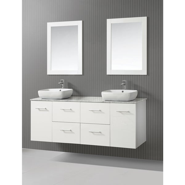 mtd vanities figi 63 inch double sink bathroom vanity set with mirror