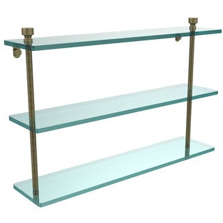 Allied Brass Foxtrot Collection 22-inch 3-tiered Glass Shelf