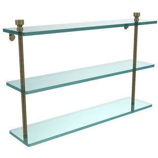 Foxtrot Collection 22-inch 3-tiered Glass Shelf