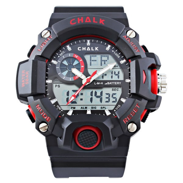 Chalk Velocity Vermilion V Men's 52mm Red Extreme Sports Watch