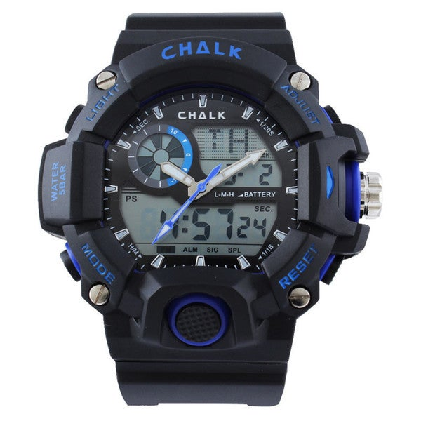 Chalk Velocity Ultramarine V Men's 52mm Blue Extreme Sports Watch
