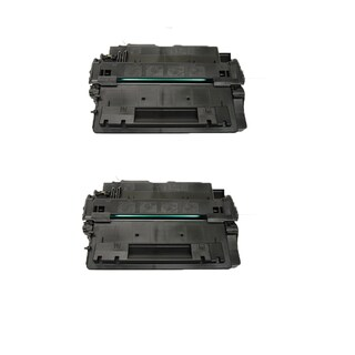 HP CE255A (HP 64X) Remanufactured Compatible Black Toner Cartridge LaserJet P4014 P4014n P4015 P4015n P4515n (Pack of 2)