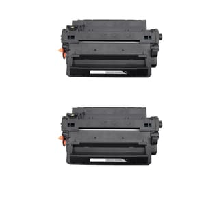 HP CE255X (HP 55X) Remanufactured Compatible Black Toner Cartridge (Pack of 2)