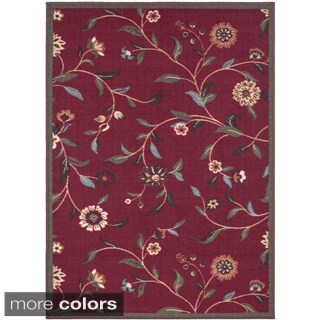 Ottohome Collection Floral Garden Design Modern Non-skid Area Rug (2'7 x 4'1)
