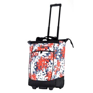 Olympia Ink Blots Fashion Rolling Shopper Tote