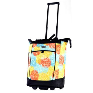 Olympia Floral Fashion Rolling Shopper Tote