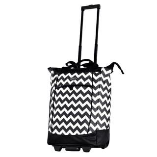 Olympia Chevron Fashion Rolling Shopper Tote