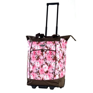 Olympia Cherry Blossom Fashion Rolling Shopper Tote