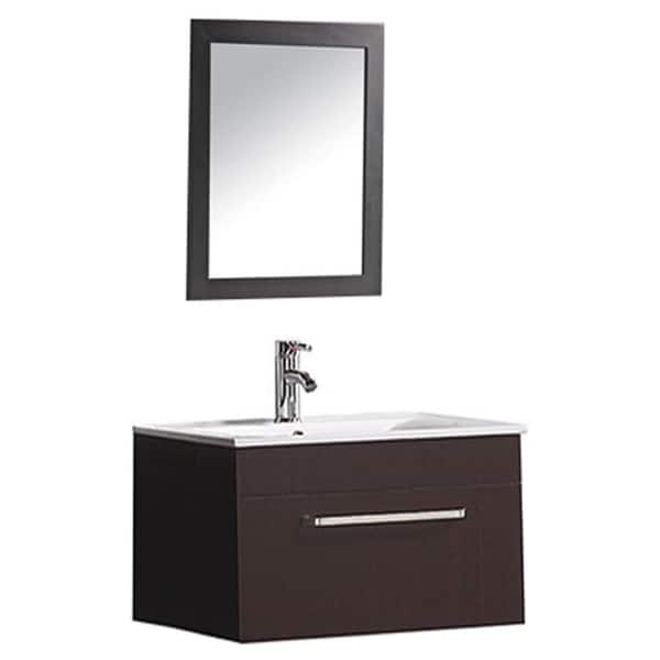 ... inch Single Sink Wall Mounted Bathroom Vanity Set with Mirror and