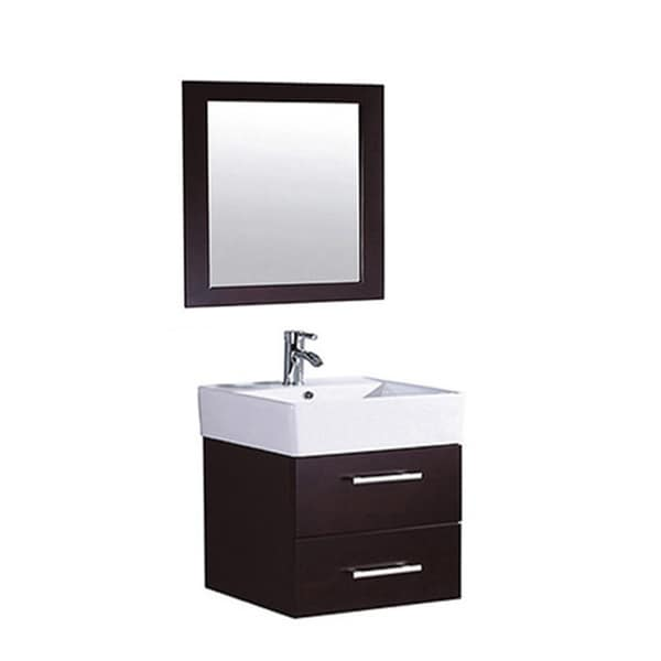 18 Inch Vanity With Sink : MTD Vanities Nepal 18-inch Single Sink Wall Mounted Bathroom Vanity ...